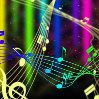 Colours of numbers and notes of music