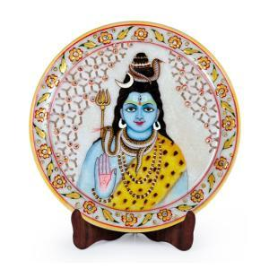Lord Shiva Designer Marble Plate