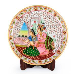Mugal Painted Marble Plate