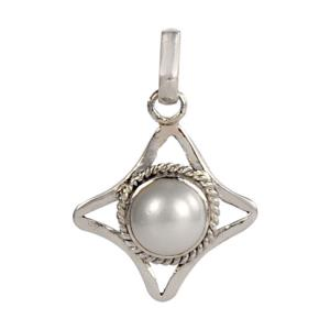 Pearl Locket Star Shaped in Silver