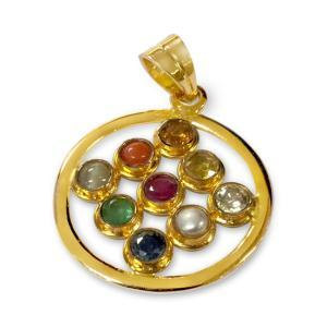 Navratna Gold Locket