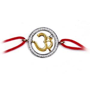 Om Gold and Diamond Bracelet