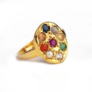 Navratna Ring in Round Shaped