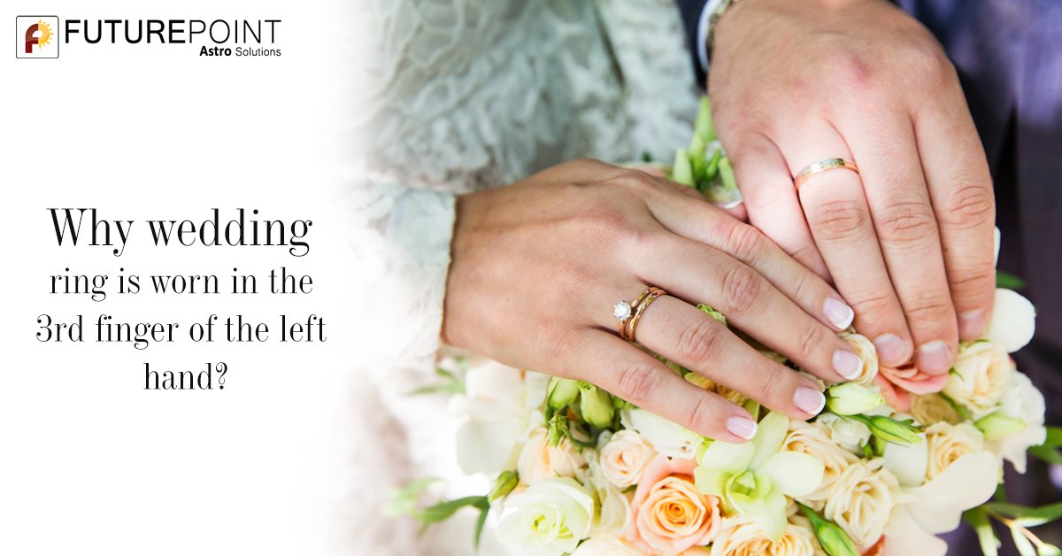 Why wedding rings worn in the 4th finger of the left hand?