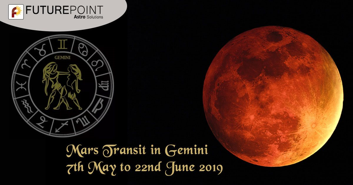 Mars Transit in Gemini, 7th May to 22nd June 2019