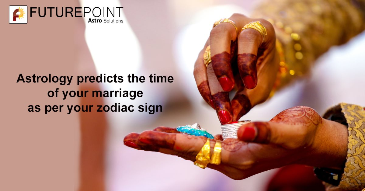 Astrology predicts the time of your marriage as per your zodiac sign
