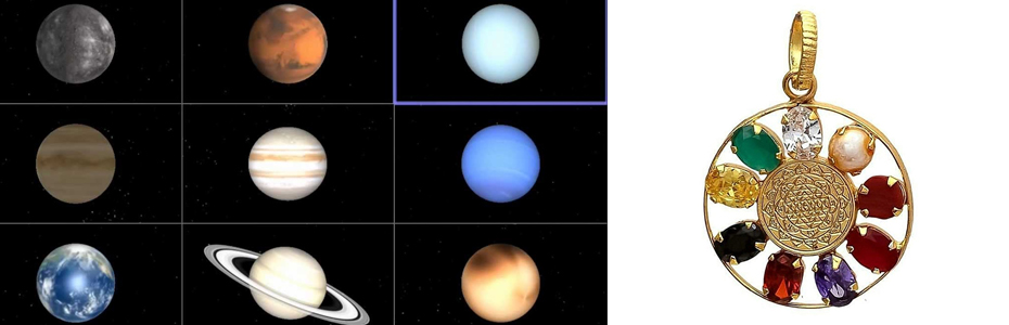 नौ ग्रहों का एकसाथ शुभ फल पाने के लिए पहनें – नवरत्न अष्टधातु लॉकेट