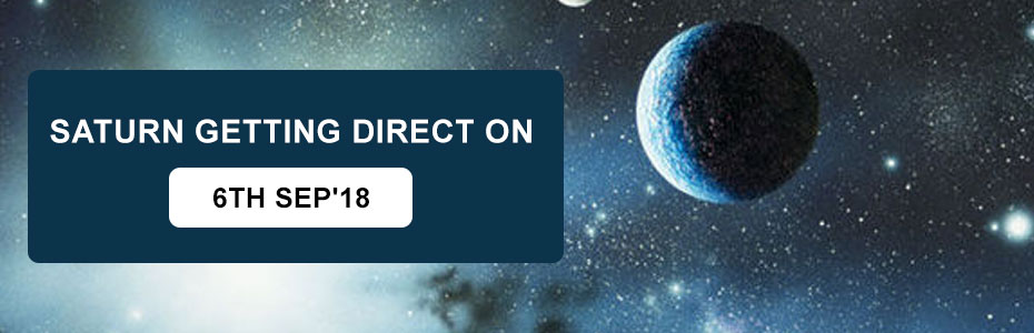 Saturn getting direct on 6th Sep