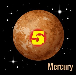 Radical number 5 Mercury