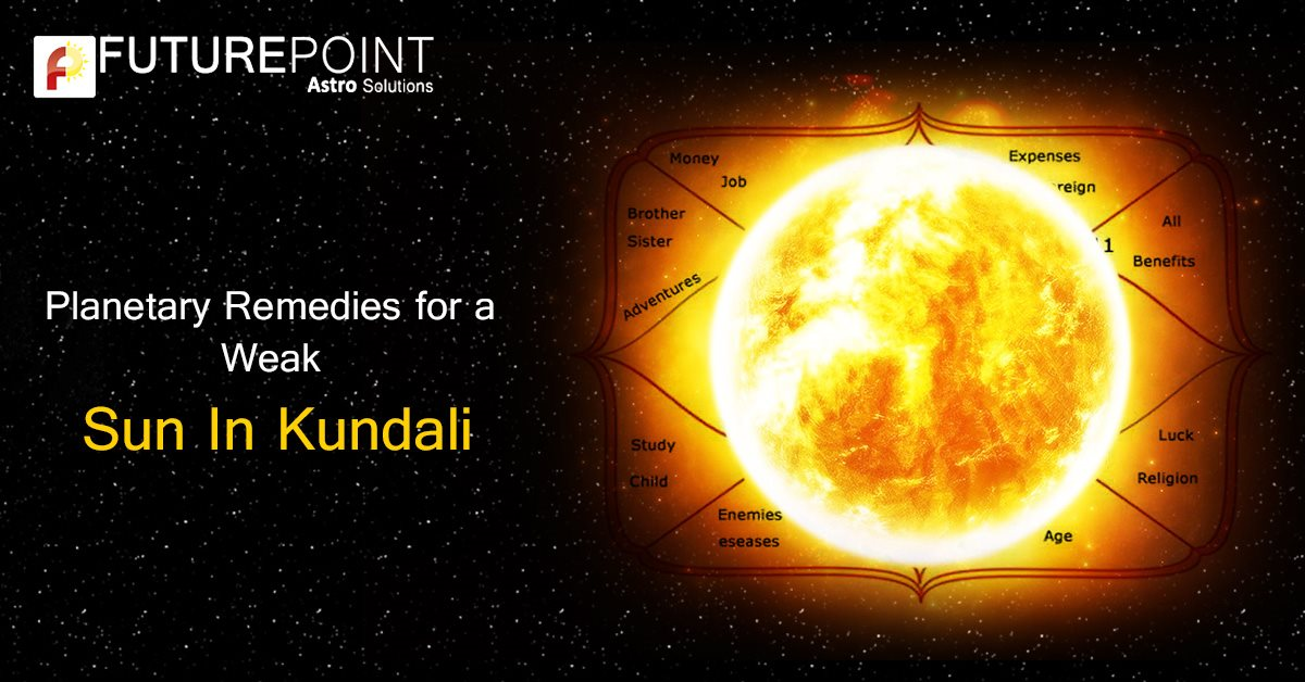 Planetary Remedies for a Weak Sun in Kundali
