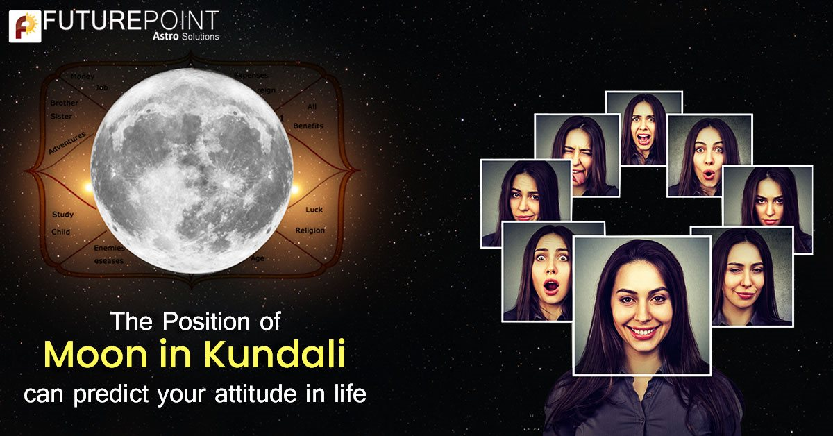 The Position of Moon in Kundali can predict your attitude!