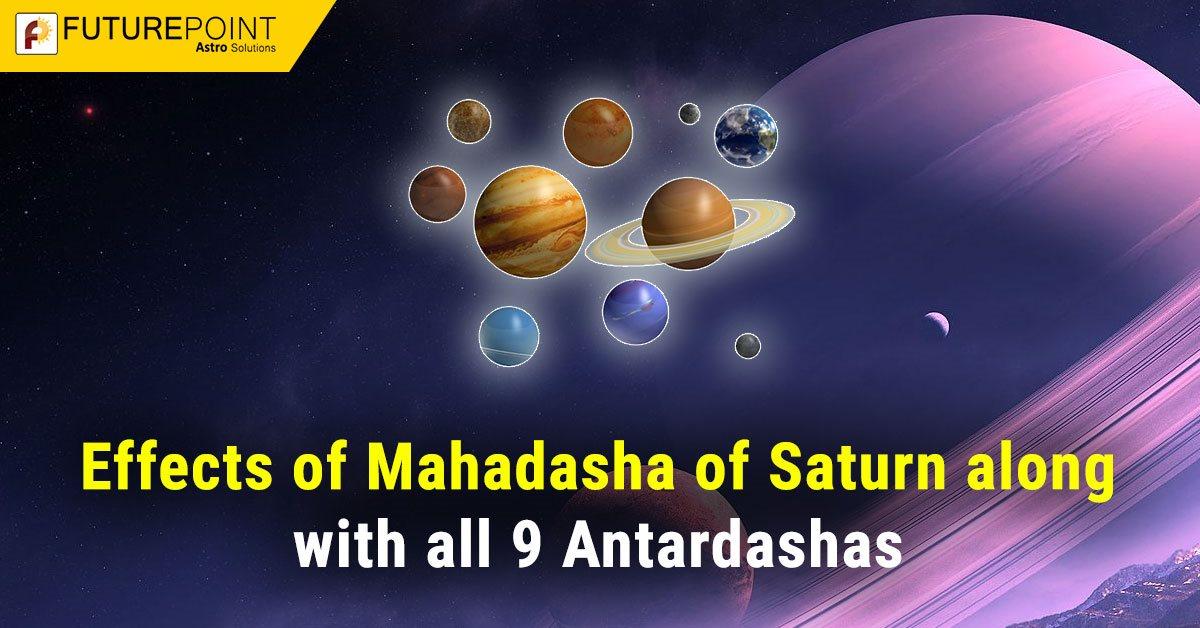 Effects of Mahadasha of Saturn along with all 9 Antardashas