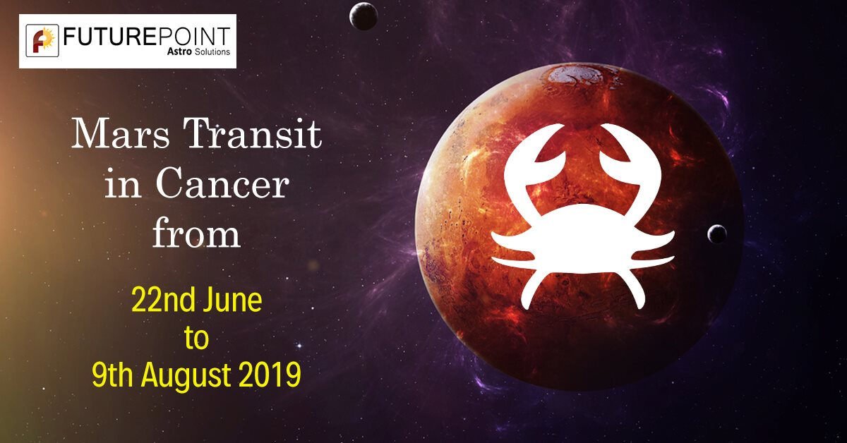 Mars Transit in Cancer from 22nd June to 9th August 2019