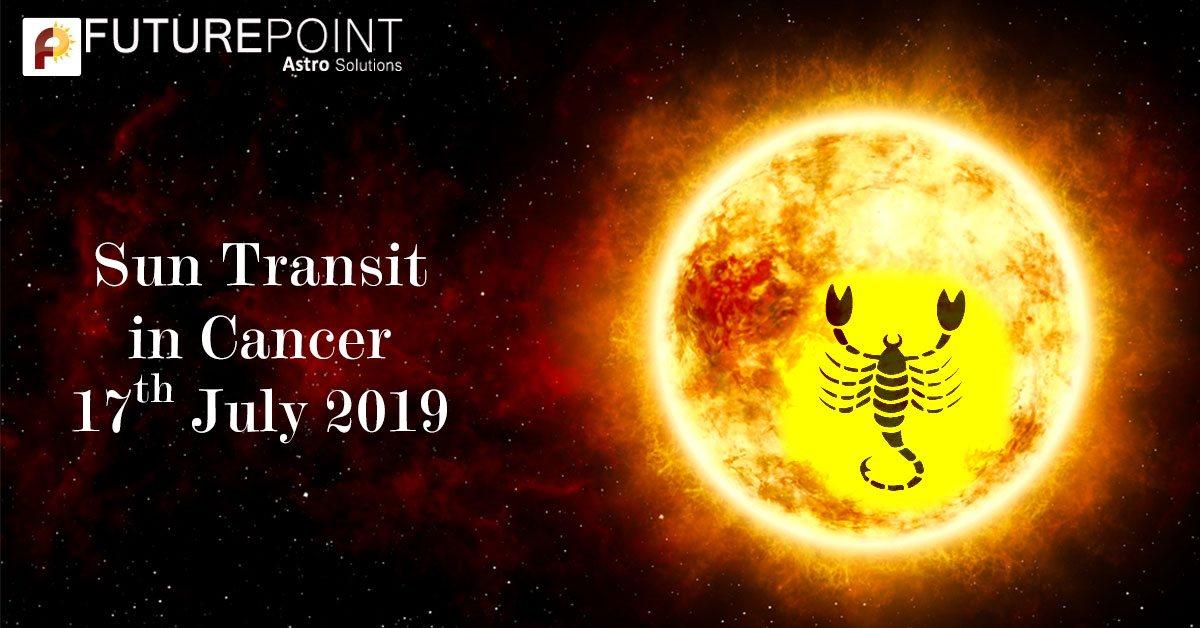 Sun Transit in Cancer 17th July 2019
