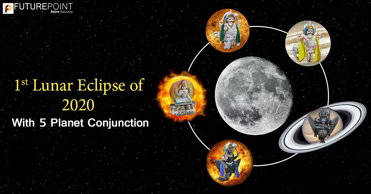 1st Lunar Eclipse of 2020: With 5 Planet Conjunction