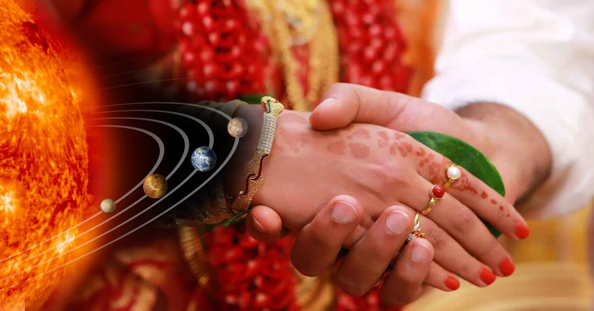 Planetary combinations for marriage, love marriage, and delays in marriage