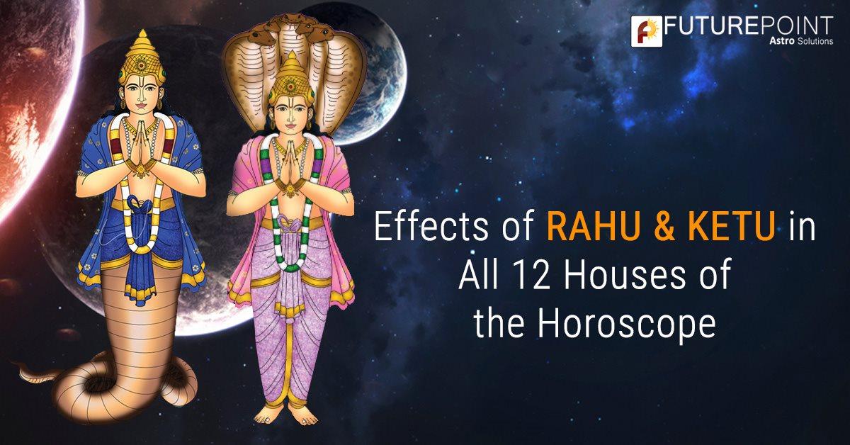 Effects of Rahu & Ketu in All 12 Houses of the Horoscope