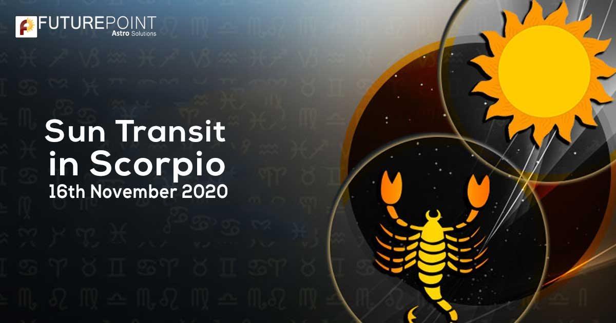 Sun Transit in Scorpio 16th November 2020