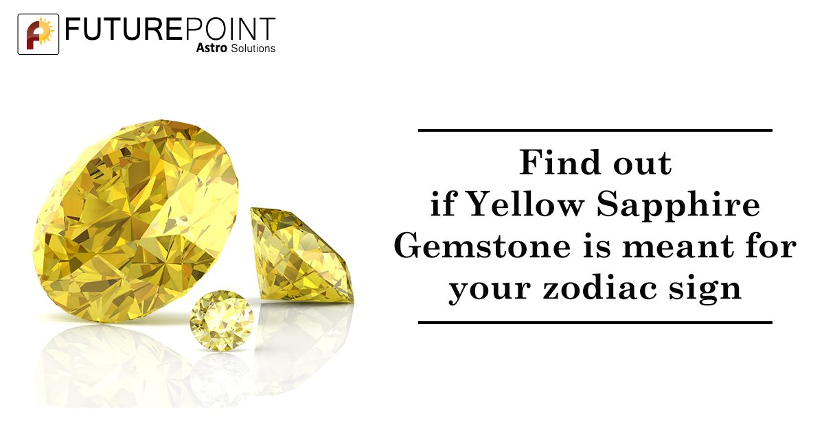 Find out if Yellow Sapphire Gemstone is meant for your zodiac sign