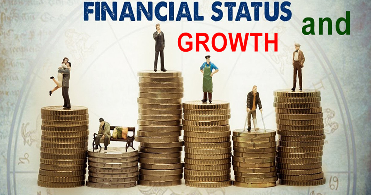 How does astrology determine financial status and growth?