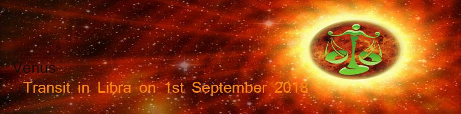 Venus transit in Libra on 1st September 2018