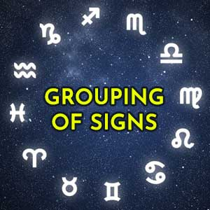Grouping of signs