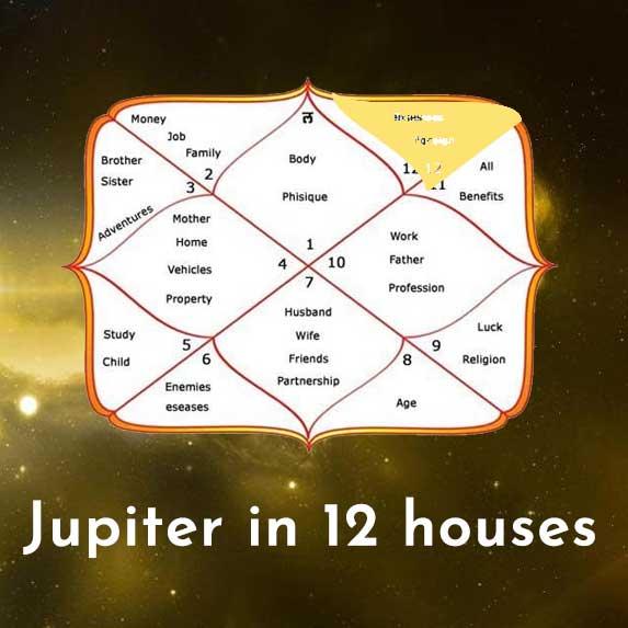 Jupiter in 12 houses