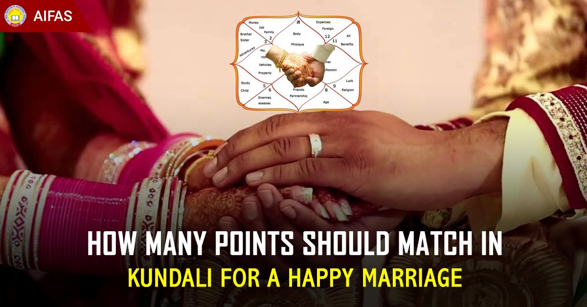 How many points should match in Kundali for a Happy Marriage